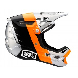 Downhill čelada 100% Aircraft Chrome Edition - R8 Chrome Orange