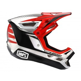 Downhill čelada 100% Aircraft Chrome Edition - Twinblaze Chrome Red