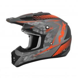 Motokros čelada AFX FX-17 Factor Frost Grey Safety Orange