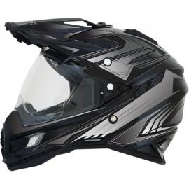 Enduro / Multi moto čelada AFX FX-41DS Multi Gloss Black