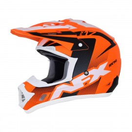 Motokros čelada AFX FX-17 Factor Complex Holeshot Matte Neon Orange Black White