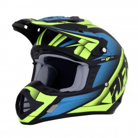 Motokros čelada AFX FX-17 Force Complex Colors Matte Black Green Blue
