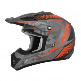 Otroška motokros čelada AFX FX-17YE Frost Gray / Safety Orange