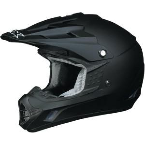 AFX FX-105 Solid Full Face Motorcycle Helmet Frost Gray