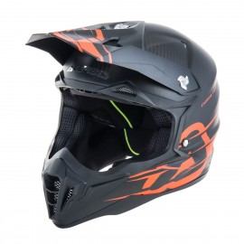 Motokros čelada ACERBIS Impact 3.0 Carbon Black Fluo Orange