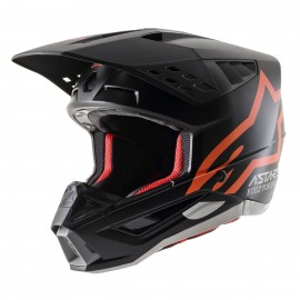 Motokros čelada ALPINESTARS S-M5 Compass Black Orange Fluo mat