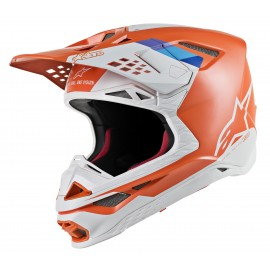 Motokros čelada ALPINESTARS S-M8 Contact Orange Grey