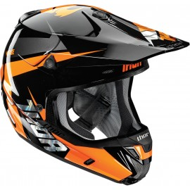 Motokros čelada Thor VERGE REBOUND FLO ORANGE/BLACK