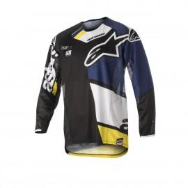 Moški motokros dres ALPINESTARS Techstar Factory S8 Black Dark Blue White Yellow