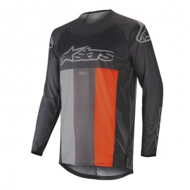 Moški motokros dres ALPINESTARS Techstar Venom Anthracite Gray Fluo Orange