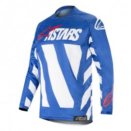 Moški motokros dres Alpinestars Racer Braap Blue White Red