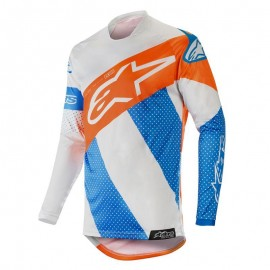 Moški motokros dres Alpinestars Racer Tech Atomic Cool Gray Mid Fluo Orange
