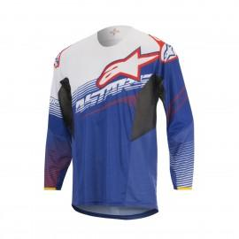 Moški motokros dres ALPINESTARS Techstar Factory Blue White Red