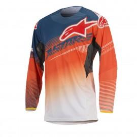 Moški motokros dres ALPINESTARS Techstar Factory Orange Fluo Dark Blue White