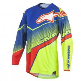 Moški motokros dres ALPINESTARS Techstar Venom Blue Yellow Fluo Red