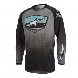 Moški motokros dres ALPINESTARS Racer Supermatic Black/Dark Gray/Teal