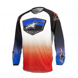 Moški motokros dres ALPINESTARS Racer Supermatic Red/Blue/White