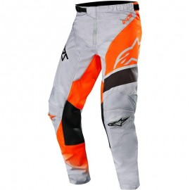 Otroške motokros hlače ALPINESTARS Racer Supermatic Light Gray Fluo Orange Black 2019
