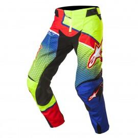 Moške motokros hlače ALPINESTARS Techstar Venom Blue/Yellow Fluo/Red