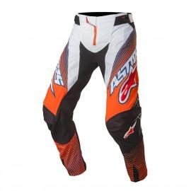 Moške motokros hlače ALPINESTARS Techstar Factory Orange Fluo/Dark Blue/White