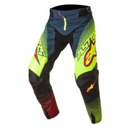 Moške motokros hlače ALPINESTARS Techstar Factory Petrol/Yellow Fluo/Red
