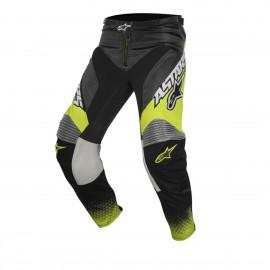 Moške motokros hlače ALPINESTARS Racer Supermatic Anthracite/Yellow Fluo/Light Gray
