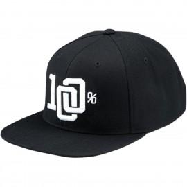 Kapa s šiltom 100% Hat Collage Snapback Black