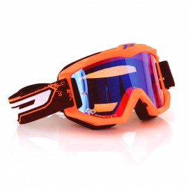Motokros očala PRO GRIP 3204 OTG Fluo Mat Orange Blue Mirrored (primerne za očala)