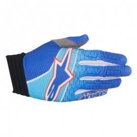 Moto rokavice ALPINESTARS AVIATOR BLUE/CYAN/RED