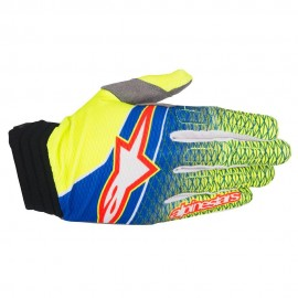 Moto rokavice ALPINESTARS AVIATOR BLUE/YELLOW FLUO/RED