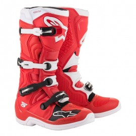Motokros škornji Alpinestars Tech 5 Red White