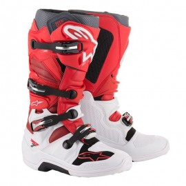 Motokros škornji Alpinestars Tech 7 White Red Burgundy