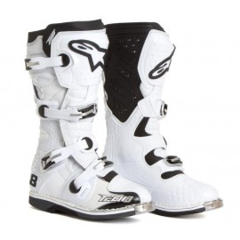Motokros škornji Alpinestars Tech 8 RS White Vented