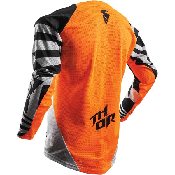 Moški motokros dres THOR Fuse Air Dazz Flo Orange White