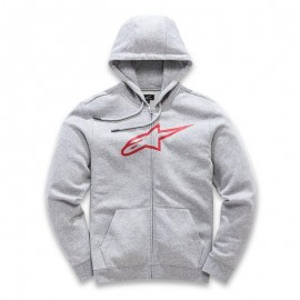 Pulover s kapuco - Hoodie ALPINESTARS Ageless Fleece Grey Heather Red