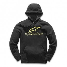 Pulover s kapuco - Hoodie ALPINESTARS Always Fleece Black Yellow