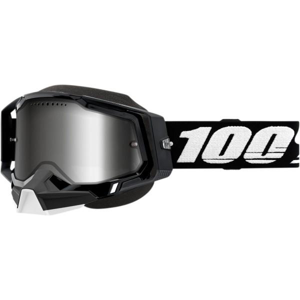 Športna zimska očala 100% Racecraft Snow Black Mirror Silver
